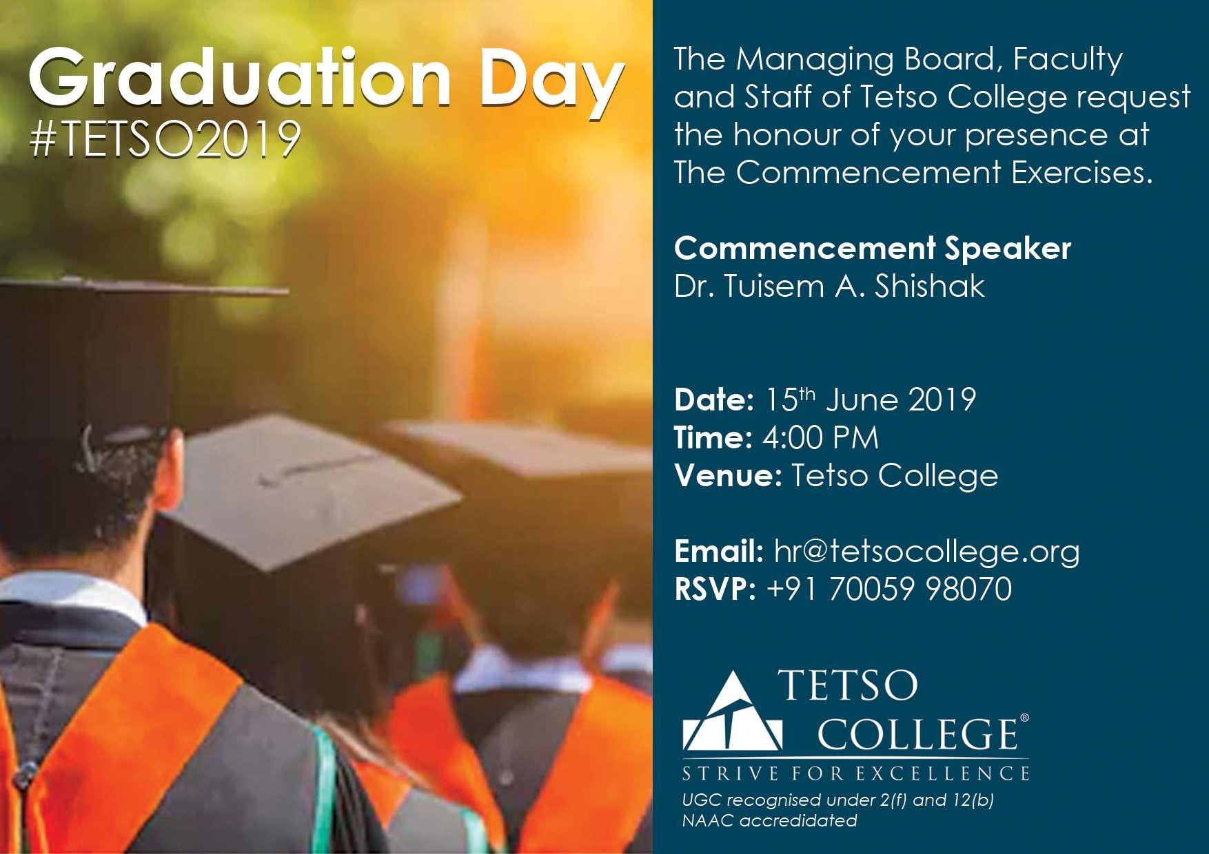 Graduation Day 2019 – Tetso College